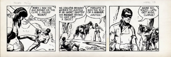 The Lone Ranger newspaper strip Comic Art