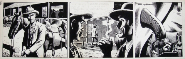 Gunsmoke/National Lampoon -- strip 2, Comic Art