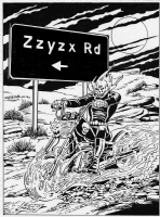 Ghost Rider on Zzyzx Road by Don Perlin, Comic Art