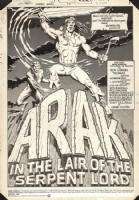 Arak Annual #1, page 1, Comic Art