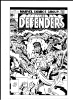 DEFENDERS 44 cover by jack kirby and john flaherty. Comic Art