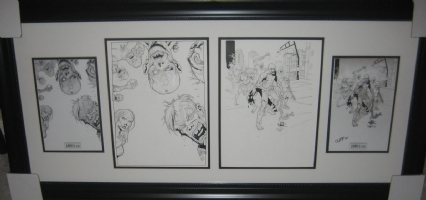 Walking Dead Rathburn back covers 34 & 35 framed, Comic Art