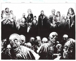 The Walking Dead Omnibus wraparound cover/ also used for the Walking Dead poster, Comic Art
