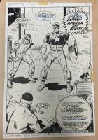 CAPTAIN AMERICA 153 final page splash BUSCEMA Comic Art