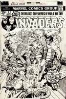 INVADERS 4 Cover Jack Kirby 1976 Comic Art