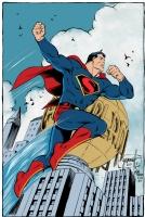 Art Deco Superman Colored - Grummett, Moore, and Turnbull Comic Art