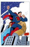 Art Deco Superman Colored - Grummett, Gordon, and Turnbull Comic Art