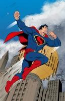 Art Deco Superman Colored - Grummett, Hazlewood, and Turnbull Comic Art