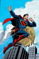 Art Deco Superman Colored - Grummett, Emberlin, and Turnbull Comic Art