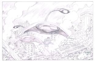 Grummett's War of the Worlds Comic Art