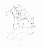 Silver Surfer Sketch by Ron Lim Comic Art