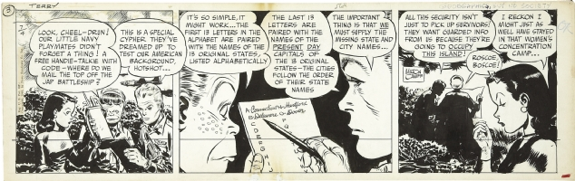 Milton Caniff: Terry August 4th 1945 Comic Art