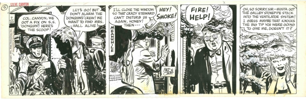 Steve Canyon strip Comic Art