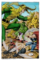 Avengers vs Loki Comic Art