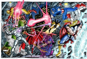 Avengers vs Ultron Comic Art