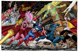 Avengers vs Count Nefaria Comic Art