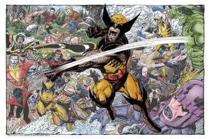 Wolverine Montage Comic Art