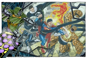 FFvsDoomvsSuperman Comic Art