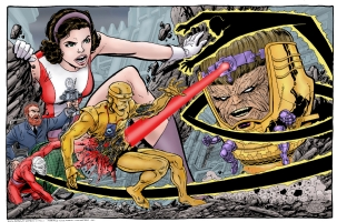Doom Patrol vs Modok Comic Art