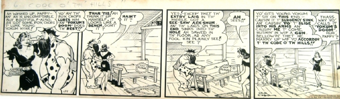 LI'L ABNER COMIC STRIP  FOR SALE 500 $ Comic Art