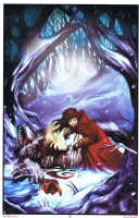 PRINT Tommy Castillo Red Riding Hood Big Bad Wolf Comic Art