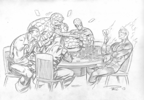 Paul Pelletier - Ben Grimm's Poker Game Comic Art
