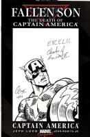 Fallen Son Blank - Captain America Sketch - Charles Barnett Comic Art