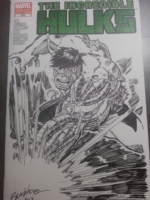 Incredible Hulk Blank - Robot Hulk - Brad Walker Comic Art