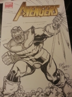 Avengers #7 Blank - Thanos Sketch - Brad Walker  Comic Art