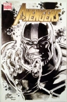 Avengers #7 Blank - Thanos Sketch - Steve Epting Comic Art