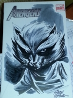 Avengers Blank - Rocket Raccoon Sketch - Steve Epting Comic Art