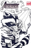 Avengers Blank - Rocket Raccoon Sketch - Brad Walker Comic Art
