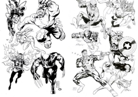 Marvel Superheroes - JAM Comic Art