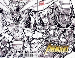 Avengers #1 Sketch Cover - Avengers vs Kang - Ken Lashley - CGC 9.8 Comic Art