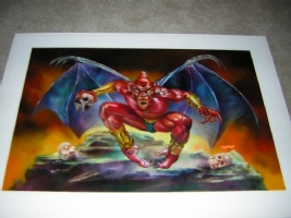 Demon's Crest SNES super nintendo original box art Comic Art
