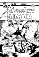 ADVENTURE COMICS 79 COVER RECREATION ( sort of )  MANHUNTER  STARMAN, Comic Art