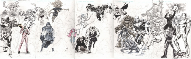 Jam Piece - Bring on the Bad Guys! - NYCC 2012 update, Comic Art