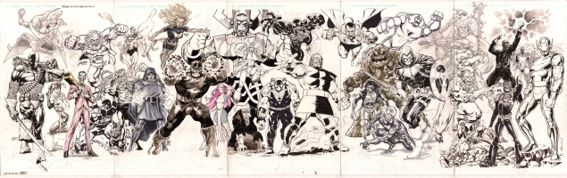 Jam Piece - Bring on the Bad Guys! - NYCC 2013 - Completed!!! Comic Art