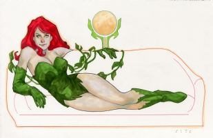 Poison Ivy Comic Art