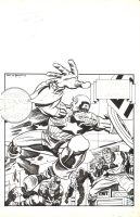 Kirby/Theakson Captain America  Comic Art