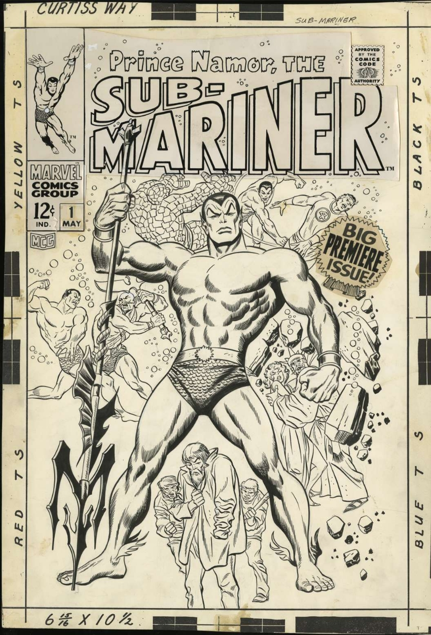 SUB-MARINER #1 (1968) Original COVER Art - JOHN BUSCEMA Comic Art