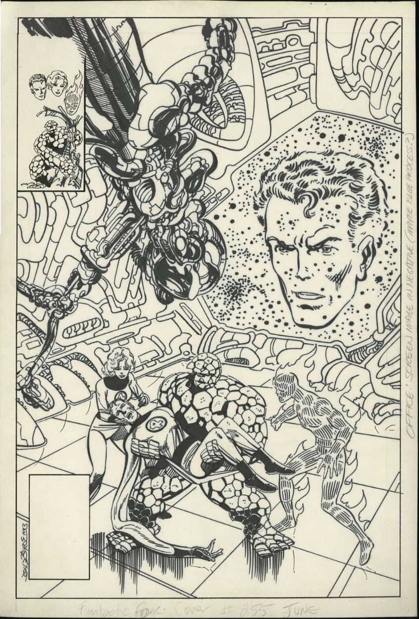 FANTASTIC FOUR #255 (1983) Cover Art - JOHN BYRNE Comic Art