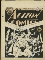 ACTION COMICS #50 (1942) Original SUPERMAN COVER Art - FRED RAY Comic Art
