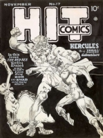 Hit Comics #17 cover art - Lou Fine Comic Art