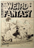 Weird Fantasy #21 cover - Williamson/Frazetta Comic Art