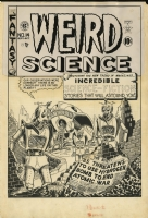 AL FELDSTEIN - WEIRD SCIENCE #14(3) Cover Art 1950 EC ALIEN ROBOTS! Comic Art