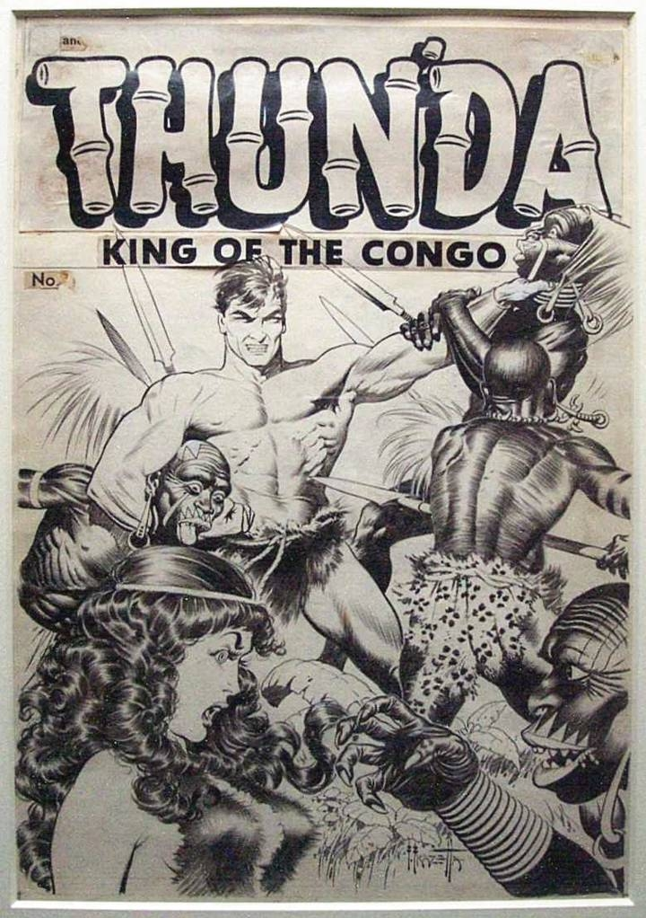 Thun'da #1 cover - Frank Frazetta Comic Art