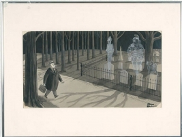 Charles Addams - New Yorker cartoon art Comic Art