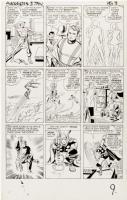JACK KIRBY - AVENGERS #3 (1964) page 8 Original Art - IRON MAN THOR GIANT-MAN WASP Comic Art