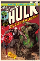 The Incredible Hulk #181 Old Man Logan Cover Recreation By Steve McNiven, Dexter Vines & Morry Hollowell, Comic Art